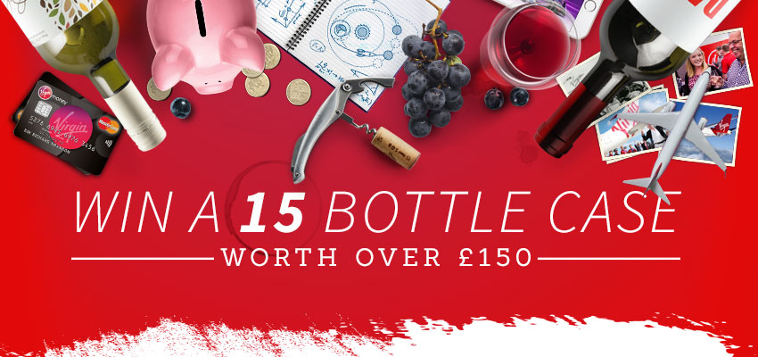 Win a 15 bottle case of wine worth over £150 from Virgin Wines!